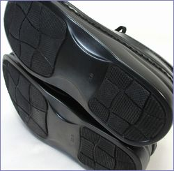 エ―オーケー  aok靴 ak84801bl  ブラック  底の画像