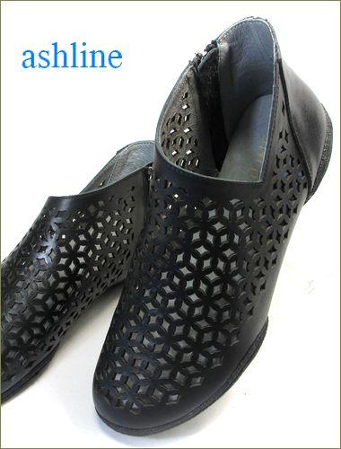 ashline アシュライン as3161bl ブラック 両足の画像