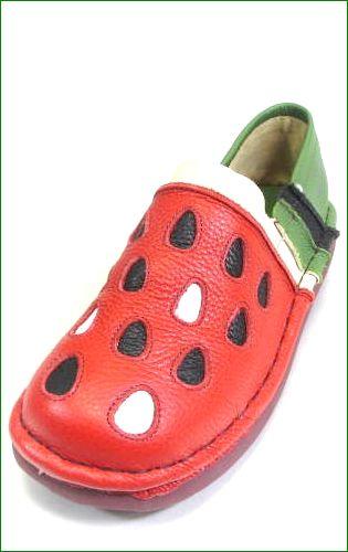 エスタシオン スイカ 靴 estacion et330grre  グリーンレッド 左の画像