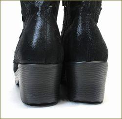 herb靴 ハーブ hb81222bl  ブラック カカト部分の画像