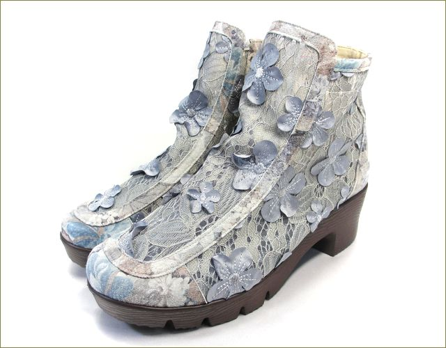 herb靴 ハーブ hb8122gy  グレイ 全体の画像