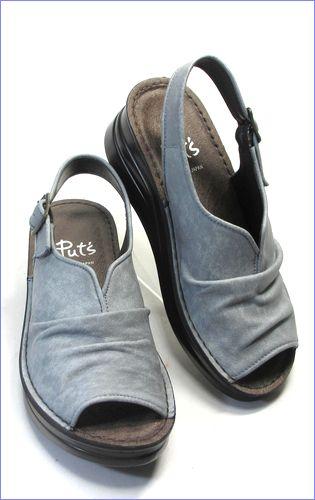 put's靴 プッツ pt4060bugy  ブル—グレイ 右画像