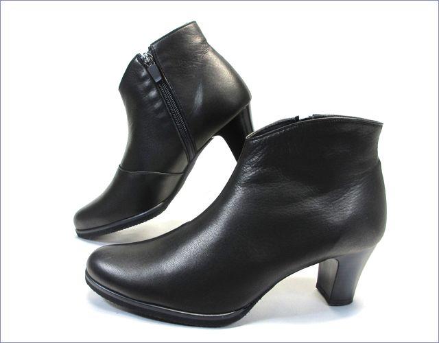 put's  プッツ靴  pt6200bl  ブラック 横から画像