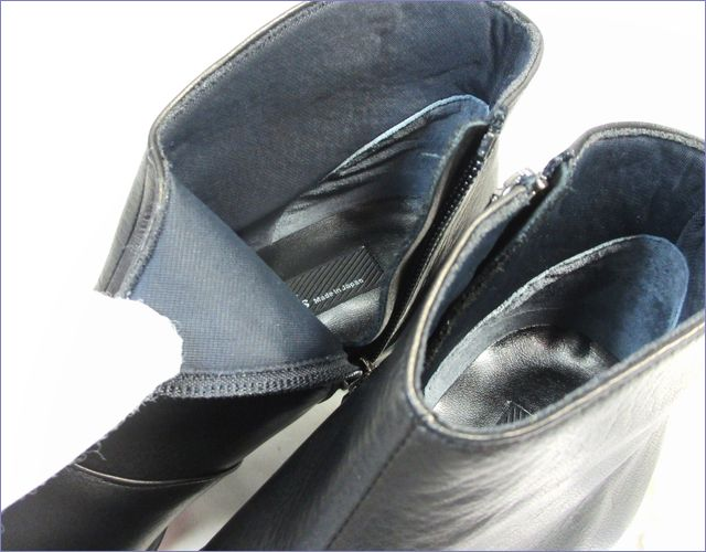 put's  プッツ靴  pt6200bl  ブラック 裏素材の画像