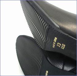 put's  プッツ靴  pt6200bl  ブラック 底の画像