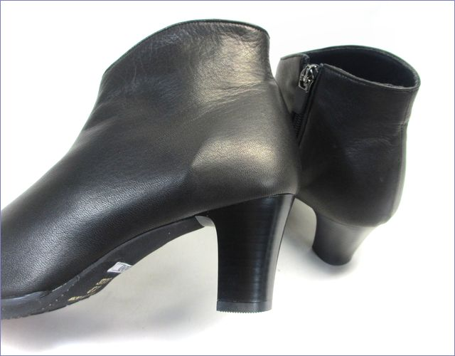 put's  プッツ靴  pt6200bl  ブラック 後ろ画像