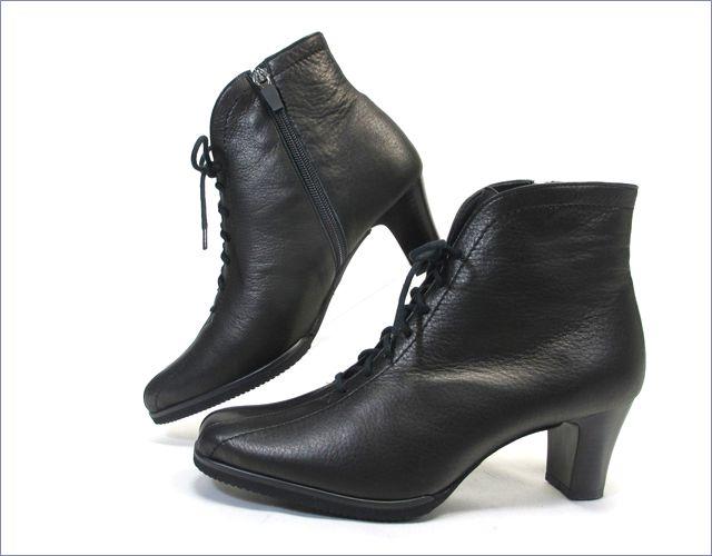 put's  プッツ靴  pt6227bl  ブラック 横から画像