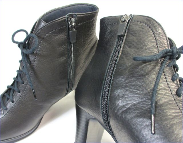 put's  プッツ靴  pt6227bl  ブラック 内側のファスナーの画像